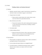 Behavior Modification - LS3_Outline_Modeling Guidance and Situational Inducement