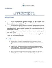 umuc biol 103 lab Here is the complete lab report, please view it and let me know if you need any changesthanks your full name: umuc biology 102/103 lab 7: ecological interactions.