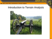 MSL101 Lesson 04a Intro to Terrain Analysis
