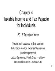 Chapter 04 - PowerPoint - Taxable Income and Tax Payable -   2013-1