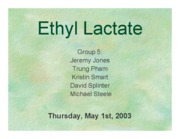 ETHYL LACTATE PRODUCTION-POWERPOINT