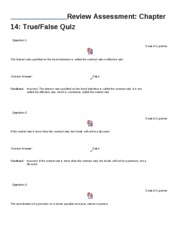 Chapter 14 practice quizes