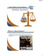 The Role Of Sports Agents & Agency Law