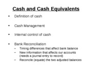 Mgmt 200 Fall 2008 Chap 6 Cash and Internal Control