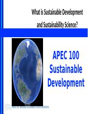 Lecture 2 - What is Sustainable Development and+Sustainability Science