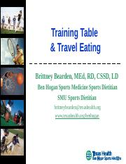Traning Table -Travel Eating.ppt