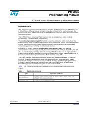 en CD00283419 - PM0075 Programming manual STM32F10xxx Flash memory