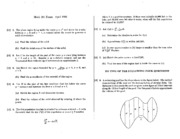 Math 101 Apr 96 Questions