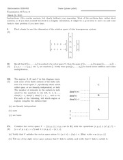 Exam D on Linear Algebra