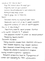 Sex and Chocolate Presentation Notes
