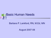 Basic Human Needs,Self adjustment2