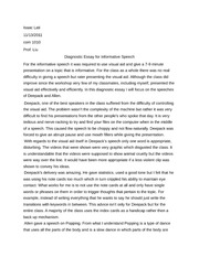 Diagnostic Essay Example