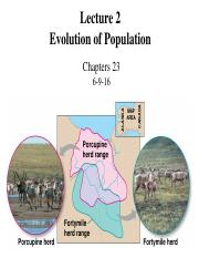 Lecture 2 Evolution of Population