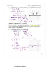 2.3 Solving Radical Functions Graphically