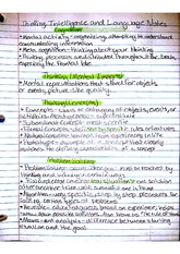 Lecture Notes on Thinking, Intelligence, and Language