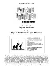 Sondheim - Putting It Together (Revival) (pf score)