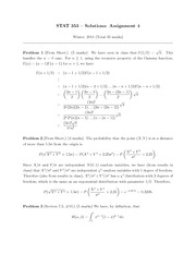 STATS 353 HOMEWORK 4 SOLUTIONS