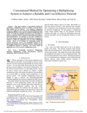 Conventional Method for Optimizing a Multiplexing System to Achieve a Reliable and Cost Effective Ne