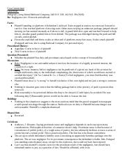 negligence tort case brief.docx