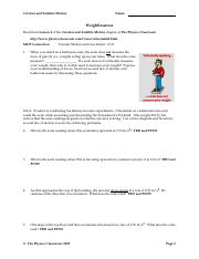 Weightlessness Worksheet-2