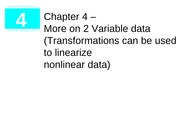 Transforming to achieve linearity (4.1)