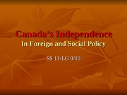 Canada's Independence
