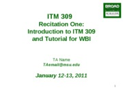 ITM309-Recitation1