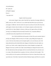 essay about frank mccourts mother
