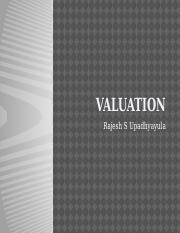 Presentation on Valuation PGP17