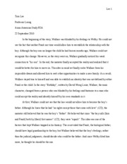Birthday essay