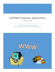 CGS2060 Lecture Two for Winter 2015 12_22_14