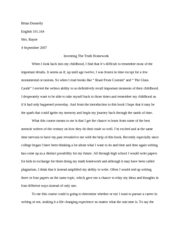 Inventing the truth essay 1