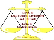 LEGL 20 - Ch 05 - Constitutional Law