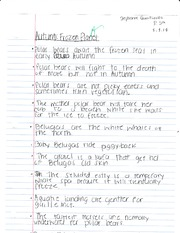 Ecology Frozen Planet Notes