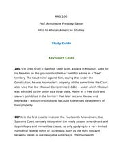 AAS100 Key Court Cases (1857-2015) study sheet