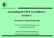 1.0 Accounting OilGas