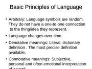 Basic Principles of Language speech power point