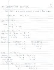 9.2, Abs Value Equations