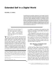 Extented self in a digital world