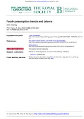 Food consumption trends and drivers