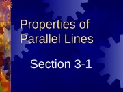 3-1 Properties of Parallel Lines