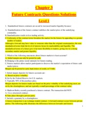 Chapter 3 - Future Contracts  - Questions Solutions