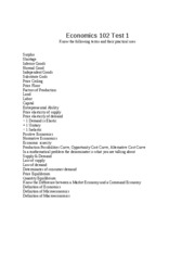 ECO 102 Test 1 Study Guide