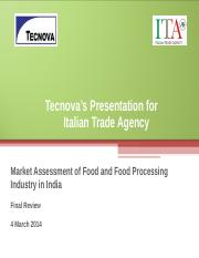 Food and Food Processing Industry in India - Updated Final Report - 4 Mar 2014.ppt