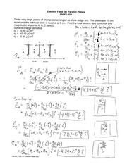 Worksheet-Electric Field for Parallel Plates-Key