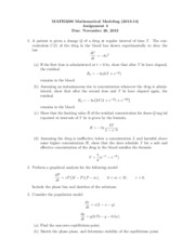 MATH3290 Assignment 4