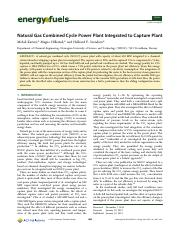 Natural Gas Combined Cycle Power Plant Integrated to Capture Plant.pdf