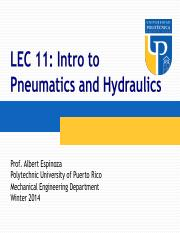 ME 3040_WI14_LEC11 - Intro to Pneumatics and Hydraulics