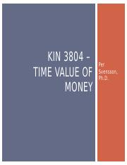 KIN 3804 - Time Value of Money