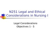 Legal Considerations Objectives 1 - 5, Student Copy 2013-2.ppt